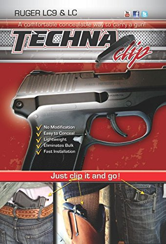 Techna Clip   Ruger Lc9 Or Lc   Conceal Carry Belt Clip  Right Side