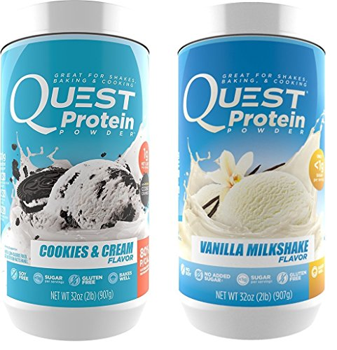 Quest Nutrition Quest Protein PnoIzm Powder, Cookies and Cream/Vanilla Milkshake 2lb Tub (1 of Each) by Quest Nutrition