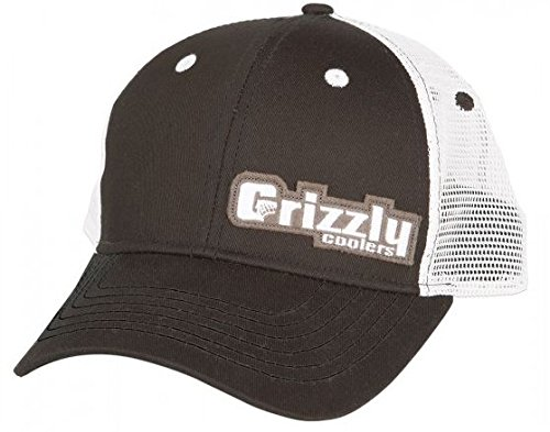 Grizzly Coolers Off Set Mesh Hat, Black