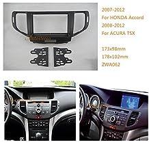 Autostereo Car Radio Mounting Audio Frame Fascia Adaptor for ACURA TSX 2008-2012 HONDA Accord 2007-2012 Car Stereo Fascia in Dash CD Trim Installation Kit