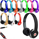 HD Sound DJ Style SOLID BASS On-Ear Headphones SL-800 For MP3/MP4, iPod, iPhone, iPad, Tablets, Laptops, Smart Phones, Portable Media Player etc. (Green)