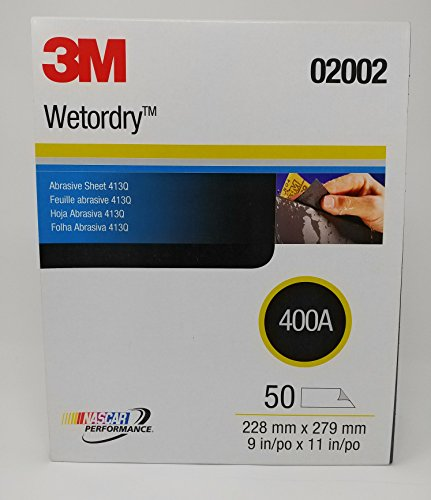 3M 02002 Wetordry 9 in x 11 in 400 Grit 413Q Abrasive Sanding Sheet sheets 50
