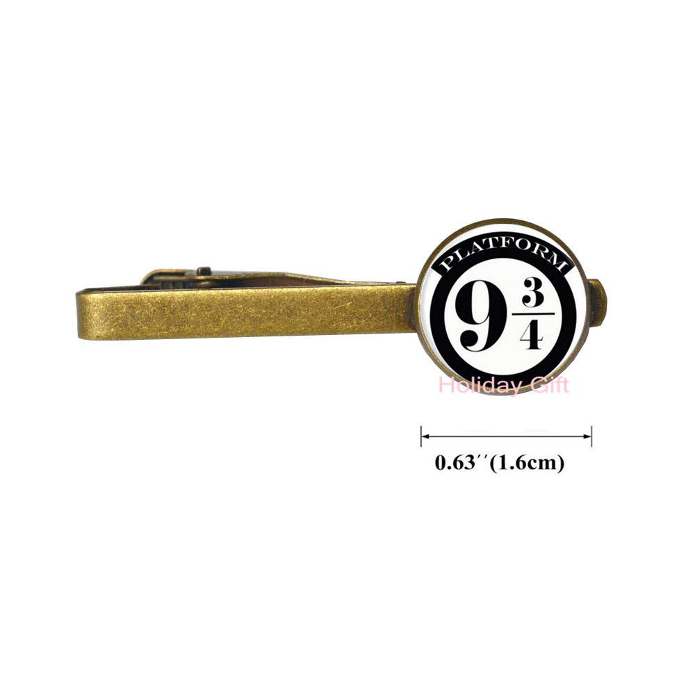 New Glass Tie Clip Platform 9 3//4 Hogwart Tie Pin Book Jewelry Glass Cabochon Long Tie Clip Gift for ren.HTY-263