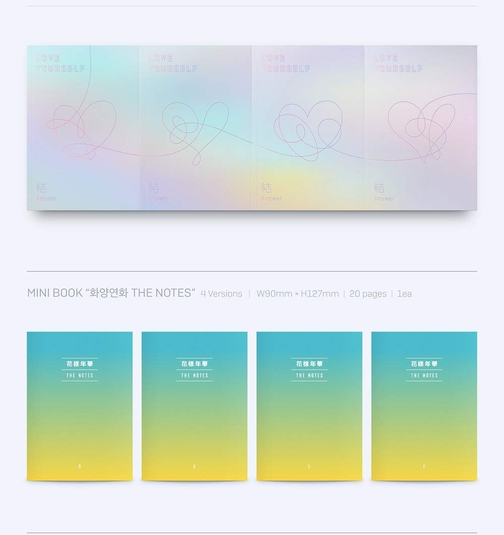 BTS - [Love Yourself 結 'Answer'] 4th Album F VER 2CD+Poster+116p PhotoBook+20p Mini Book+1p PhotoCard+1p Sticker+Pre-Order+Extra PhotoCard Set K-POP Sealed by BTS (Image #5)