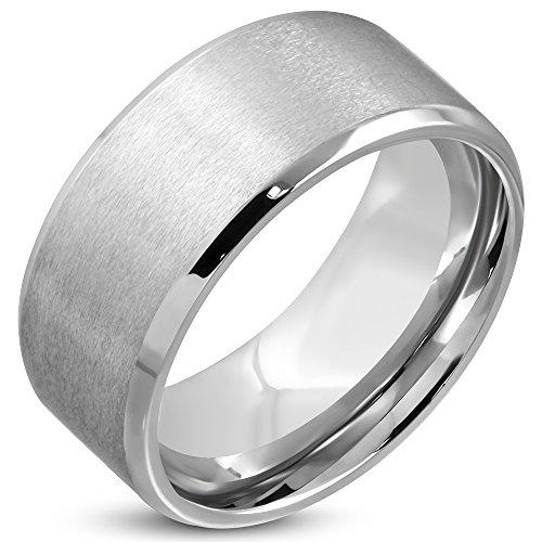 Zense-Bague-homme-en-acier-matte-et-bordures-biseauts-ZR0123