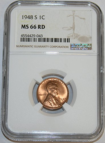 1948 S Lincoln Cent MS66 NGC RD