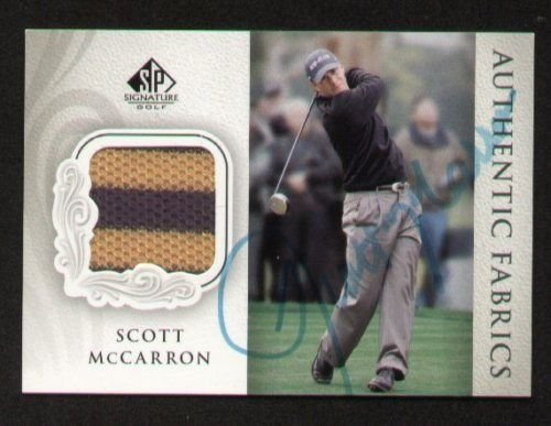 Scott McCarron signed autograph Upper Deck Fabric ()