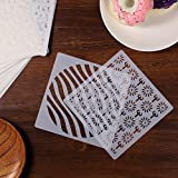 60 Pieces Cake Decorating Stencils Cookie