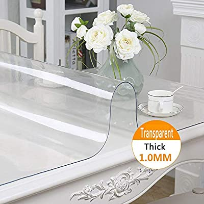 Yqhwlkj Waterproof Pvc Tablecloth Table Cloth Transparent Table