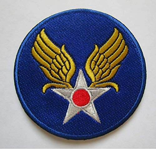 WW2 US Army AIR Corps Military Patch Fabric Embroidered Badges Patch Tactical Stickers for Clothes with Hook & Loop - Army Patches Wwii