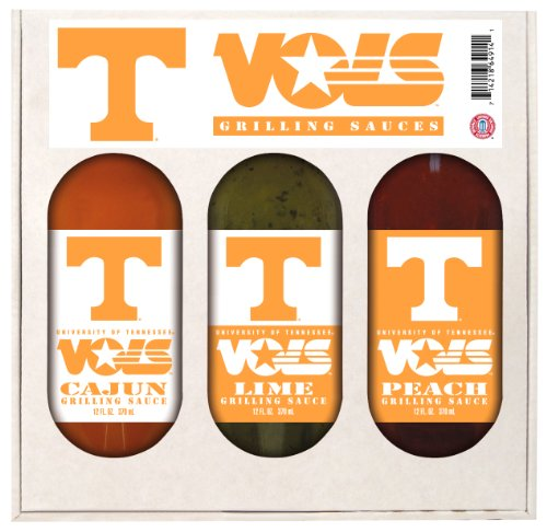 8 Pack TENNESSEE Vols Grilling Gift Set 3-12 oz by Hot Sauce Harry's