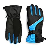 MPHABON Ski Gloves , With Windproof ,Breathable And Waterproof Protection Gloves,Outdoor Ski Snow Snowboard Gloves ,Winter Warm Gloves (Blue Upgrade)