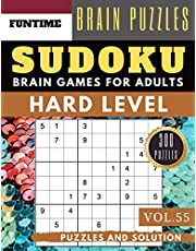 Hard Sudoku: Huge 300 hard SUDOKU puzzle books | sudoku hard to extreme difficulty Maths Book to Challenge Your Brain for Adult and Senior (hard sudoku puzzle books Vol.55)