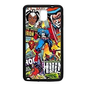 Cartoon Iron Men Black Samsung Galaxy Note3 case