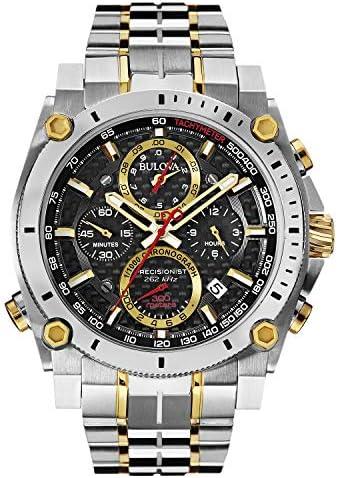 Bulova Men s 98B228 Precisionist Analog Display Japanese Quartz Two Tone Watch
