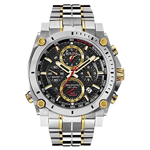 bulova precisionist two tone men's watch