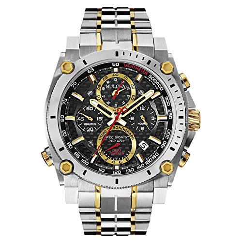 Bulova Men's 98B228 Precisionist Analog Display Japanese Quartz Two Tone ()
