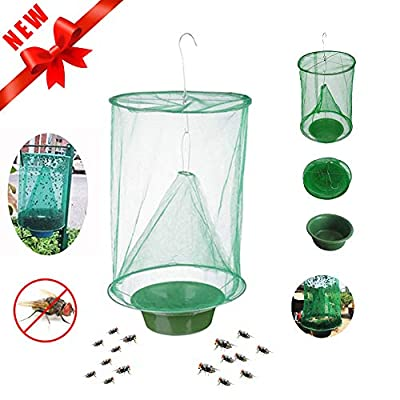 Scarecrew Ranch Fly Trap The Most Effective Trap Ever Made with Food Bait Flay Catcher for Outdoor Family Farms Park Restaurants