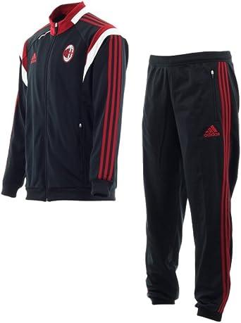 Survêtement Milan AC Noir PES -Rouge F83751: Amazon.es: Ropa y ...