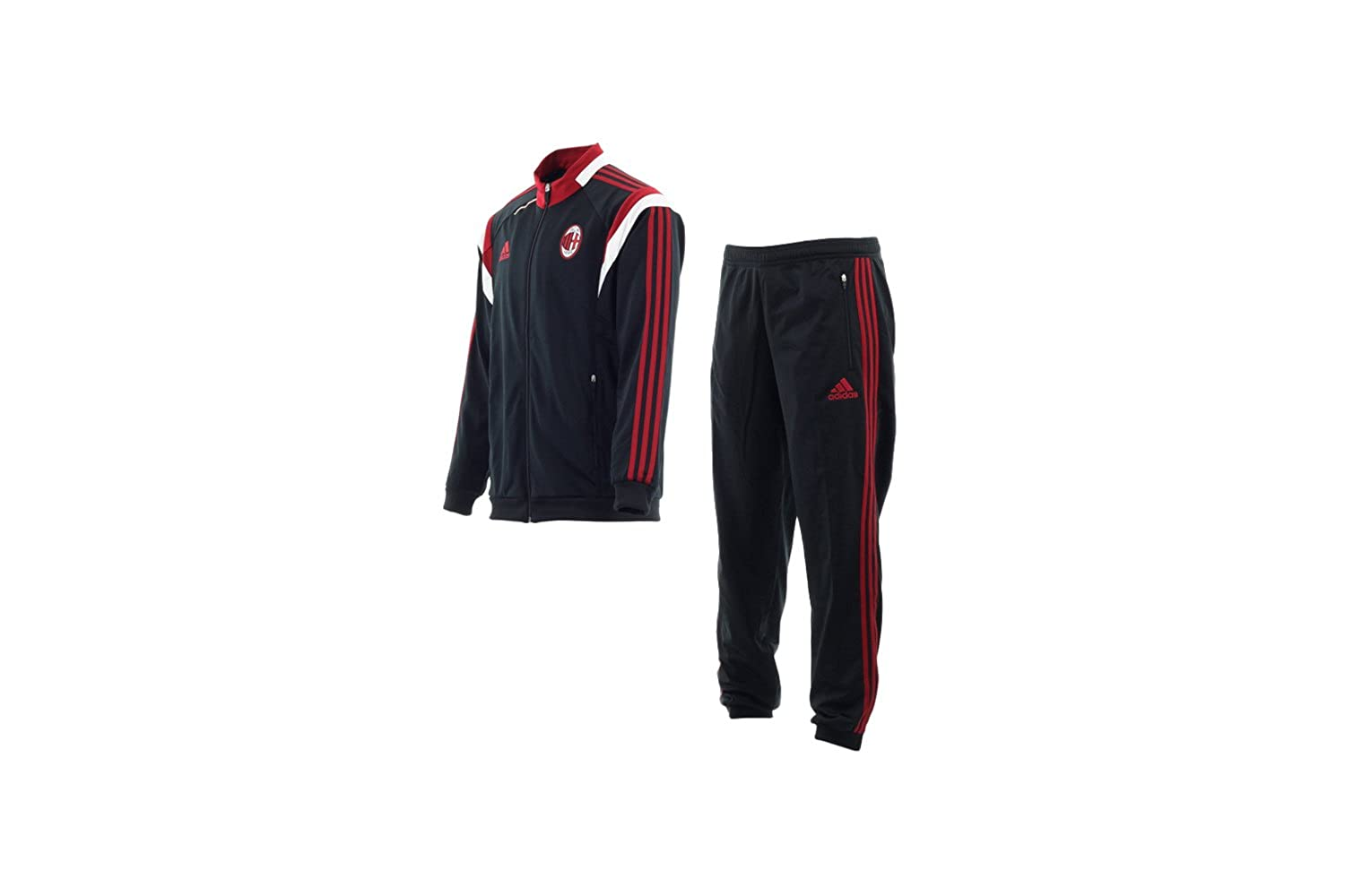 A.C. PES SUIT Adult White Black and Red 14/15 Milan Adidas F83751-S