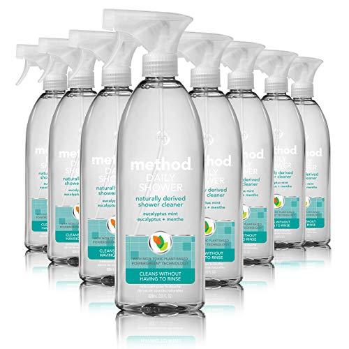 Method Daily Shower Spray Cleaner, Eucalyptus Mint, 28 Ounce (Pack 8) (Refill Daily Cleaner Shower)
