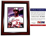 Eddie Murray Signed - Autographed Baltimore Orioles 8x10 inch Photo MAHOGANY CUSTOM FRAME - PSA/DNA Certificate of Authenticity (COA)