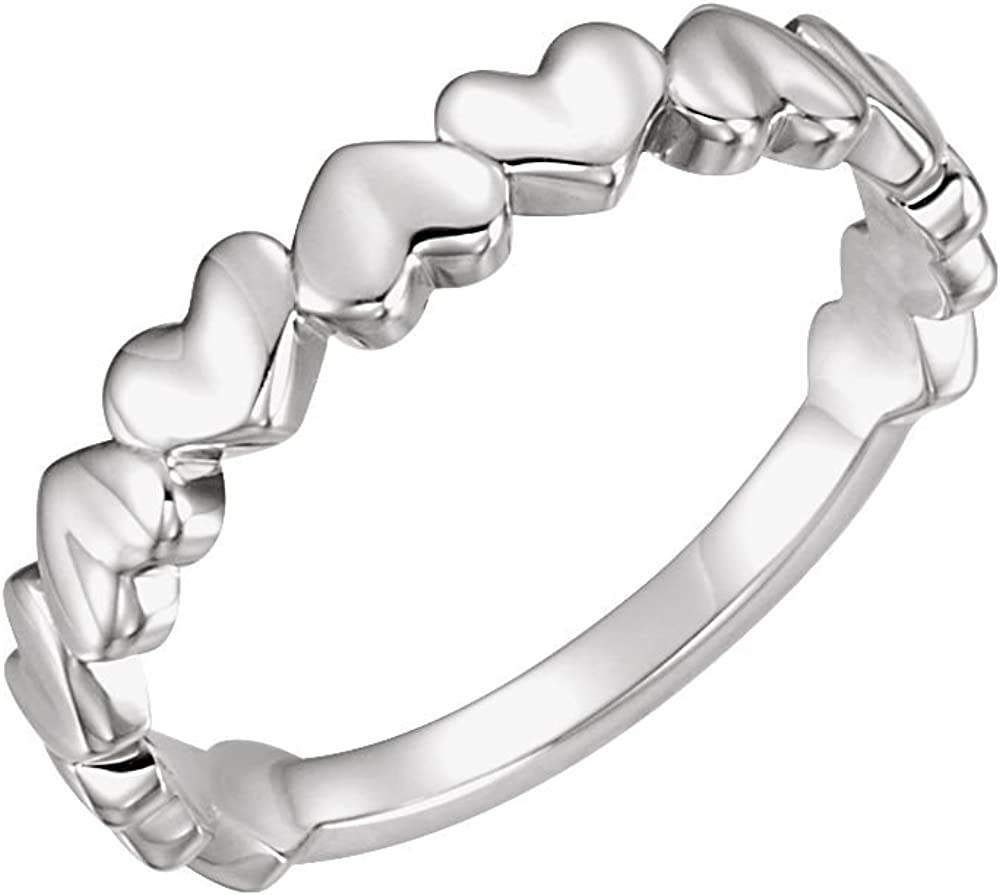 Jewels By Lux 925 Sterling Silver Heart Ring Size 7