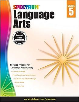 amazon spectrum language arts grade 5 spectrum vocabulary
