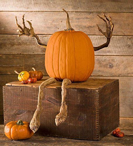 Plow & Hearth 65A44 Pumpkin Vine Arms and Legs Indoor Outdoor Halloween Decoration, 16.5