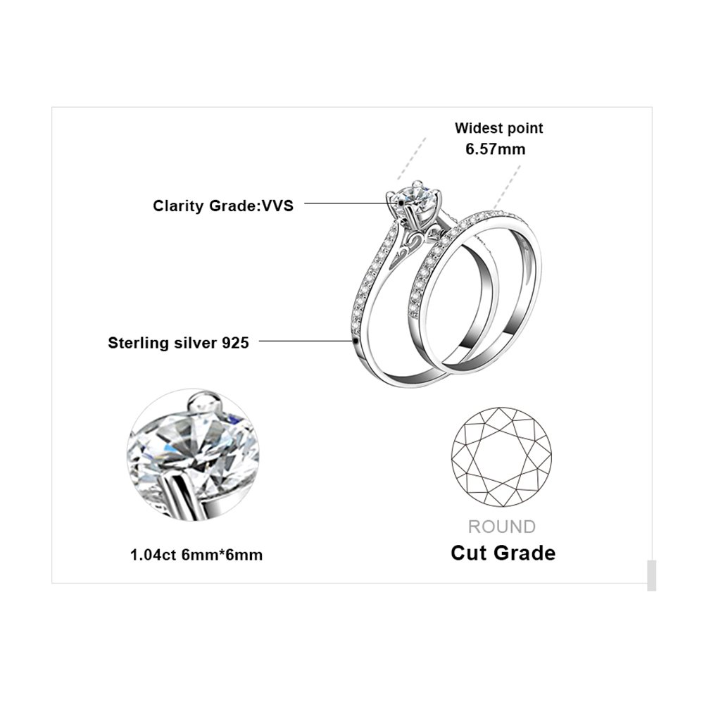 Amazon Jewelrypalace 13ct Cubic Zirconia Wedding Band
