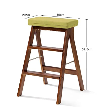 Remarkable Amazon Com Luhen Solid Wood Folding Step Stool Kitchen Pabps2019 Chair Design Images Pabps2019Com