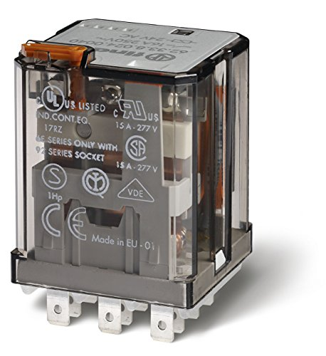 Finder 62.33.8.120.0030 3PDT 15A, 120V AC Coil, AgCdO Contact, Power Relay