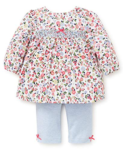 Little Me Baby Girl's Tunic Set Shirt, garden posy multi/camellia rose/chambray blue heather, 3 Months