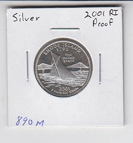 2001 S Washington Proof SILVER Quarter - Rhode Island - 50 State Quarter Choice Uncirculated (Silver Quarter 50 State)