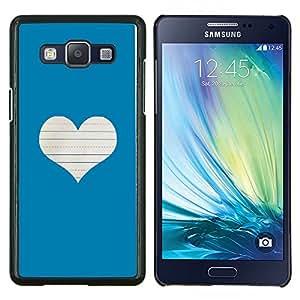 Stuss Case / Funda Carcasa protectora - Corazón del amor Notebook Blanca - Samsung Galaxy A5 ( A5000 ) 2014 Version