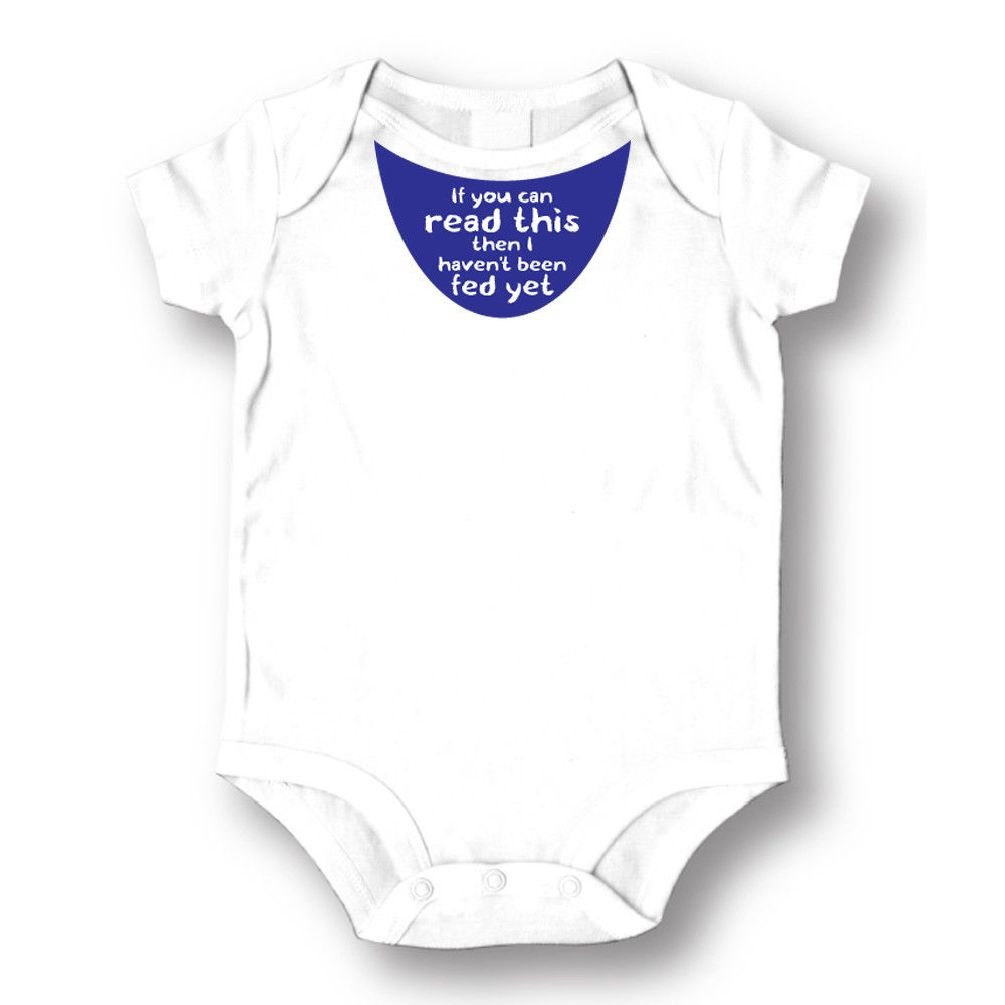 Dustin clothing series If You Can Read This I haven't Been Fed Baby Boys Girls Toddlers Romper 0-24M