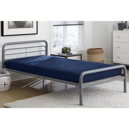 Dorel Home 6'' Twin Quilted Mattress, Navy by Dorel Home Products