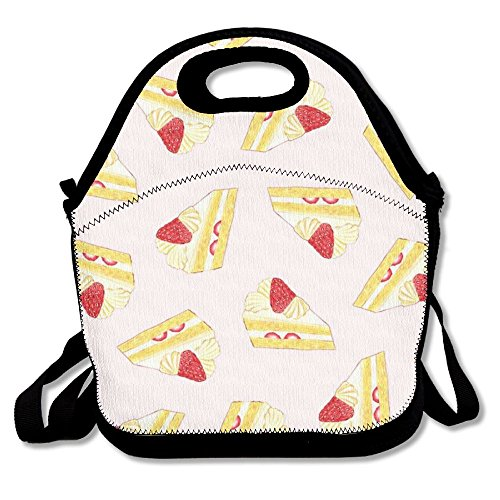 Strawberry Cake Fashionable Multipurpose Waterproof Insulated Lunch Bag(11.4X7.5X5.7Inch)