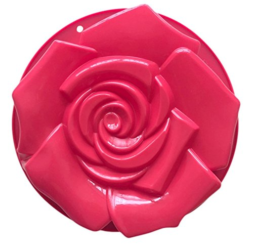 Jessicd&Recebeersh 10 inchBread Pie Flan Tart Birthday Party Cake Silicone Mold Pan Bakeware
