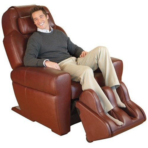 Chocolate Leather HT-1650 Human Touch Robotic Massage Chair Recliner - Refurbished