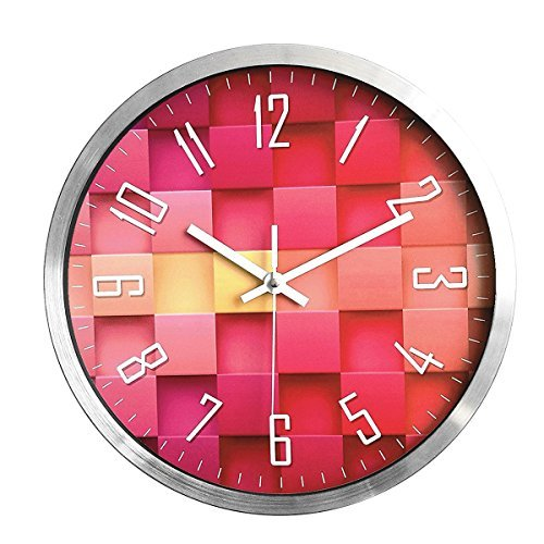 Foxtop Aluminum Wall Clock, Silent Non-ticking Quartz...