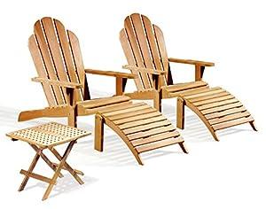 two teak adirondack chairs with adirondacks footrest and picnic table jati brand quality u0026 value