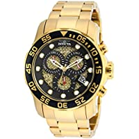 Invicta Men's 19837SYB Pro Diver 18k Gold Ion-Plated Stainless Steel Watch