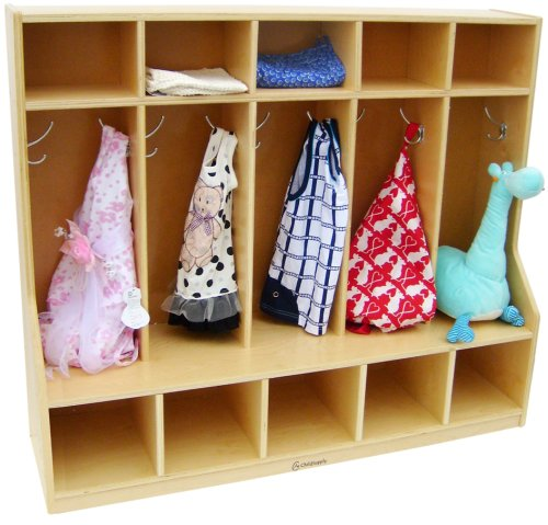 A+Childsupply Toddler 5 Section Coat Locker