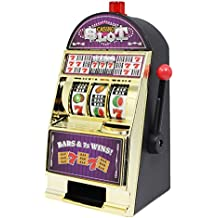"Slot Machines Large Casino Machine Bank Games Toy With Sound Flashing Lights For Adults 8.8"", Gold"