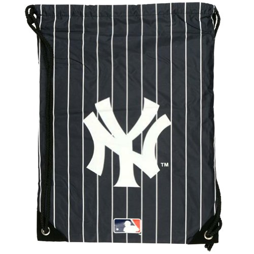 New York Yankees – Logo Pinstripe Nylon Backsack, Outdoor Stuffs