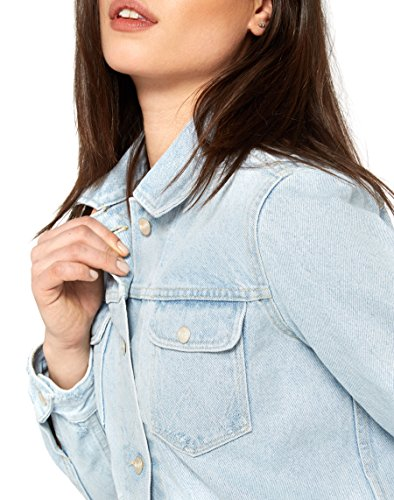 Veste Jacket Bleached Bleu 2c Heritage Ripped Jean Wrangler en Femme fEaBwq