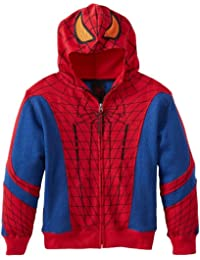 Comics Spider-Man Boys Open Park Costume Mask Hoodie