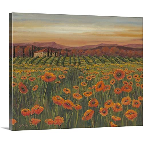 (GREATBIGCANVAS Gallery-Wrapped Canvas Entitled Poppy Path to Home II by Julie Joy 36