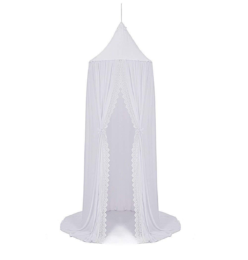 Ciel de lit Moustiquaire de lit en coton pour enfant et Princesse anti-moustique de Tente de jeu D/écoration chambre fille